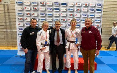 Verena Hiden (57)kg) und Lisa Tretnjak – Österr. Meisterinnen u18, Noah und Jonathan Platz 5 – Feldkirch /Vorarlberg,18.01.2020